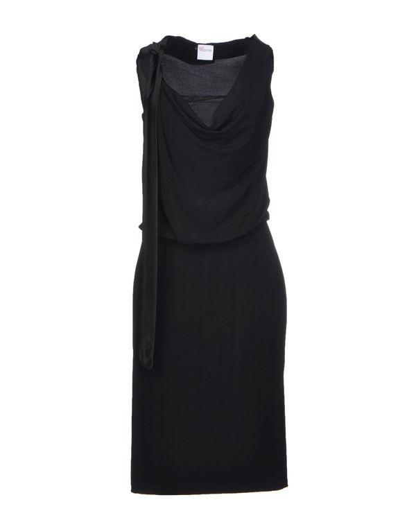 黑色 REDVALENTINO 及膝连衣裙