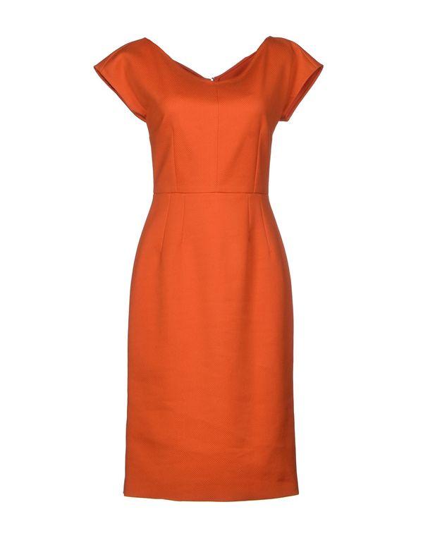 橙色 DOLCE & GABBANA 及膝连衣裙