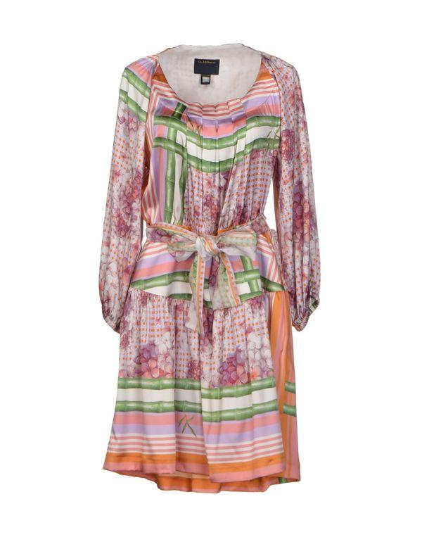 粉红色 CLASS ROBERTO CAVALLI 短款连衣裙