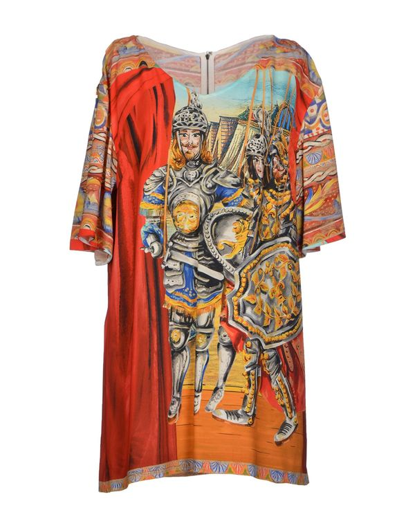 红色 DOLCE & GABBANA 短款连衣裙