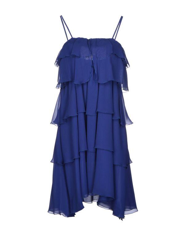 蓝色 FRANCESCO SCOGNAMIGLIO 短款连衣裙