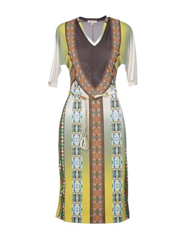 荧光绿 ETRO 及膝连衣裙