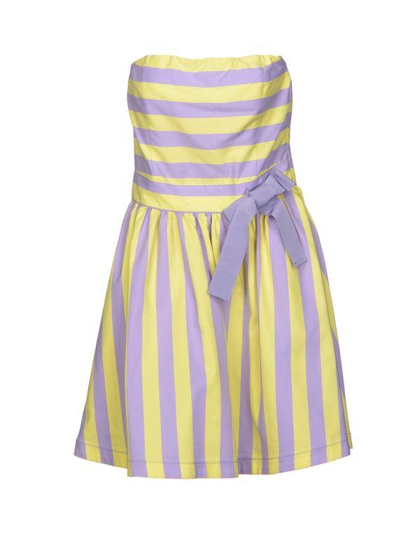丁香紫 LOVE MOSCHINO 短款连衣裙