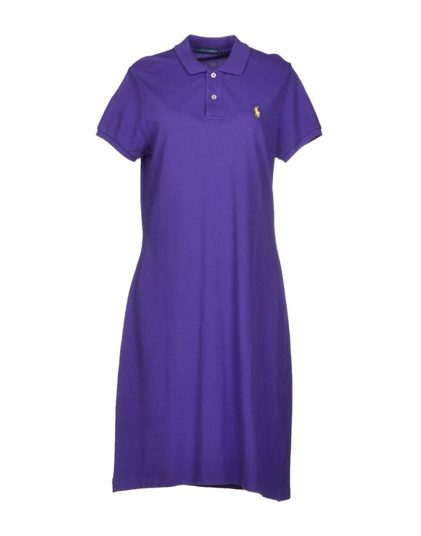 紫色 RALPH LAUREN 及膝连衣裙