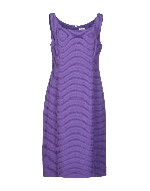 紫色 ARMANI COLLEZIONI 及膝连衣裙