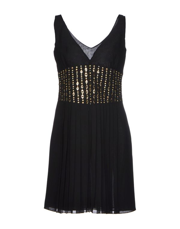 黑色 VERSACE COLLECTION 短款连衣裙