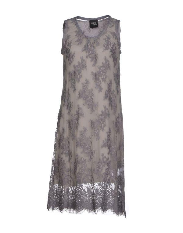 灰色 TWIN-SET JEANS 及膝连衣裙