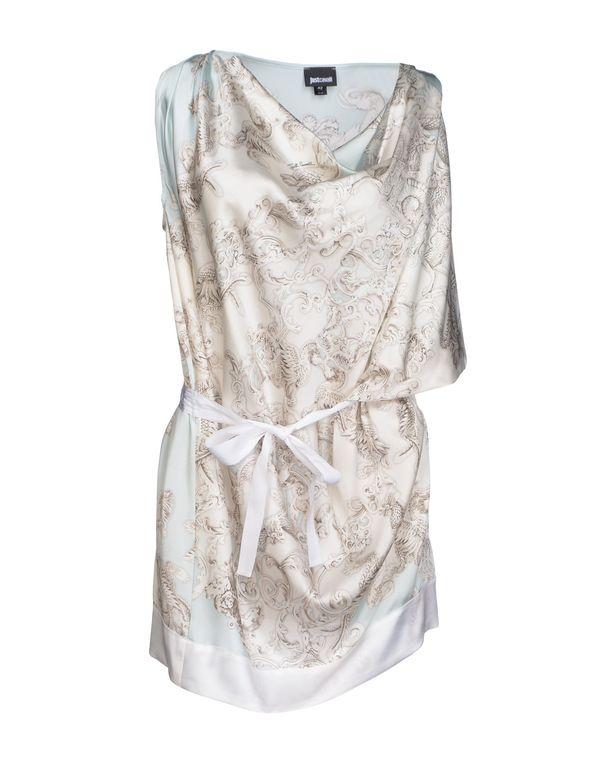 淡灰色 JUST CAVALLI 短款连衣裙