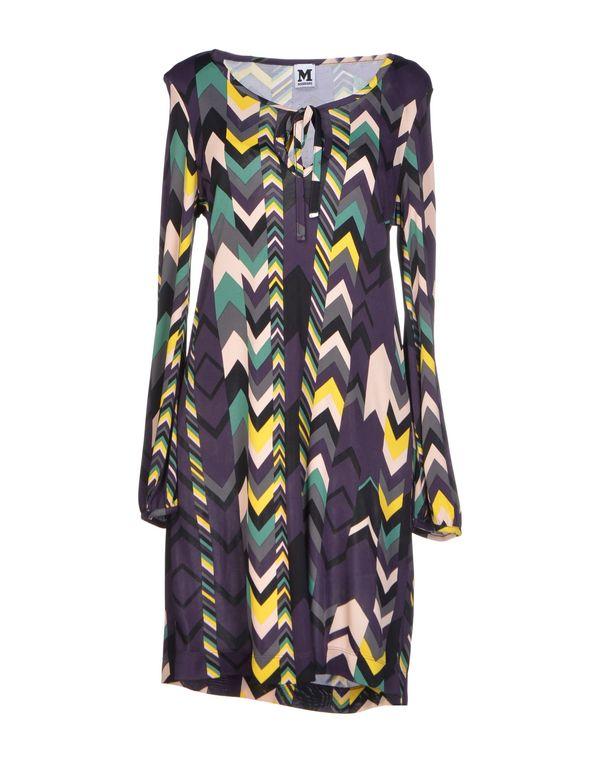 深紫色 M MISSONI 短款连衣裙
