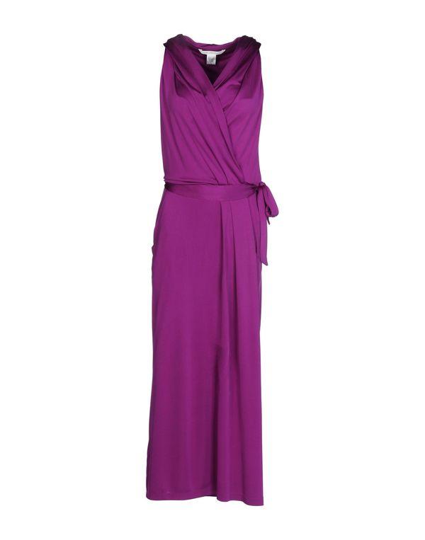 紫色 DIANE VON FURSTENBERG 长款连衣裙