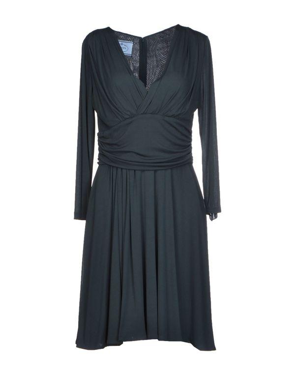 深绿色 PRADA 短款连衣裙