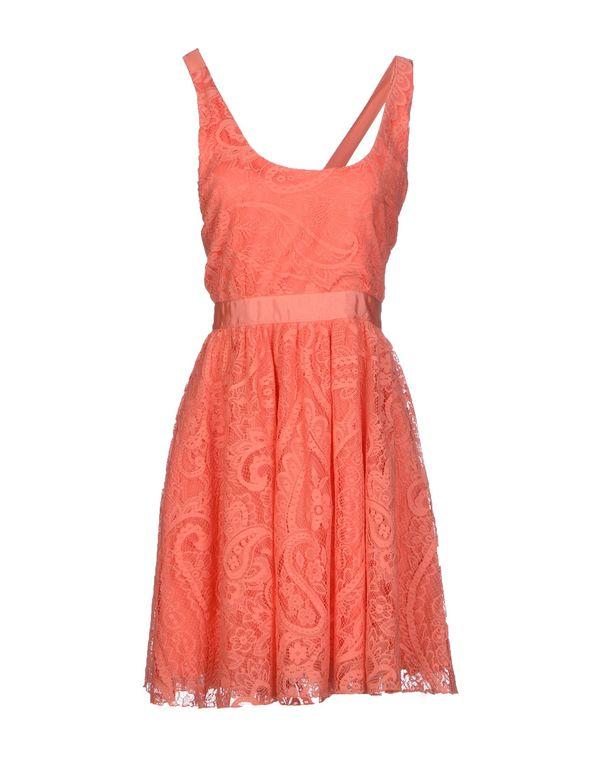 橙色 ALICE+OLIVIA 短款连衣裙