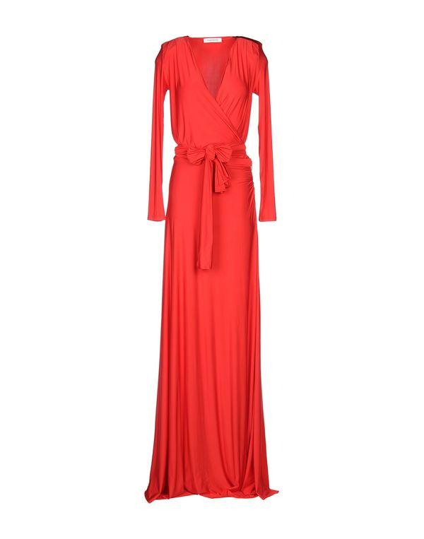 红色 PIERRE BALMAIN 长款连衣裙