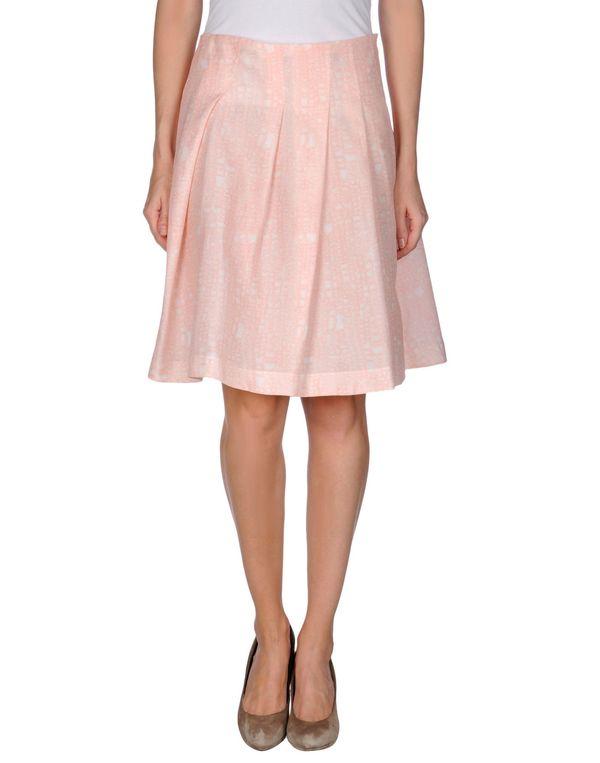 粉红色 JIL SANDER NAVY 及膝半裙