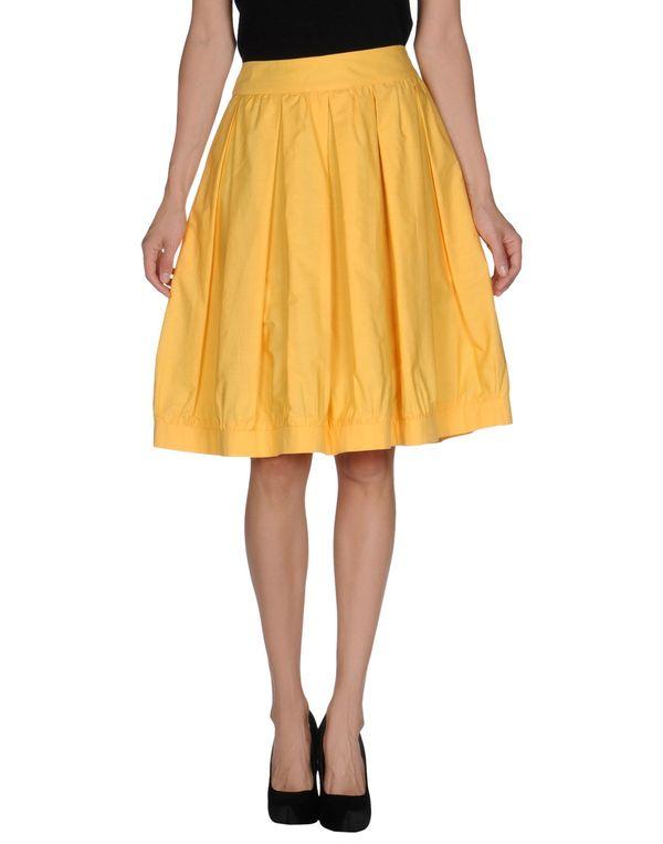 黄色 MOSCHINO 及膝半裙