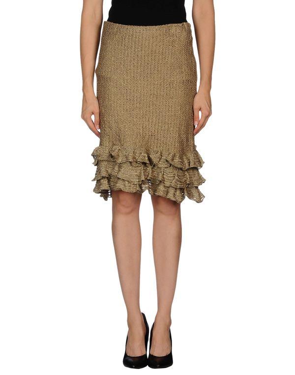 沙色 RALPH LAUREN 及膝半裙