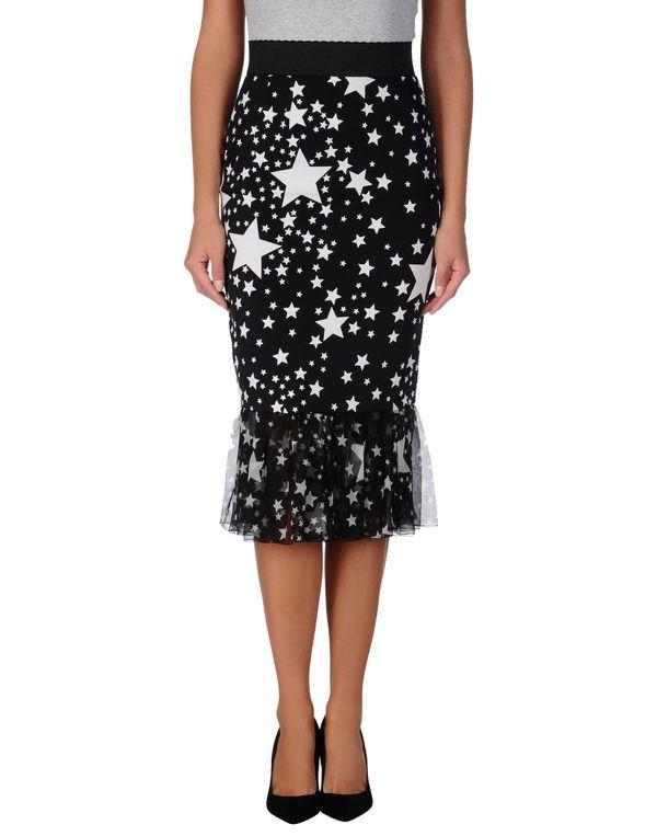 黑色 DOLCE & GABBANA 半长裙