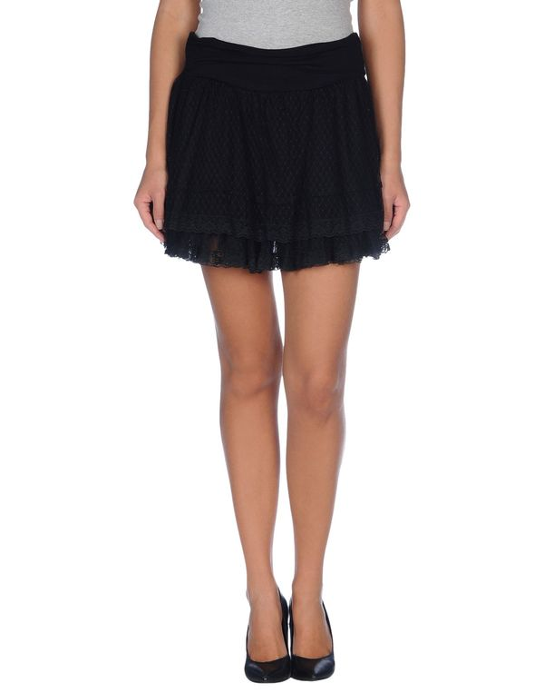 黑色 GALLIANO 超短裙