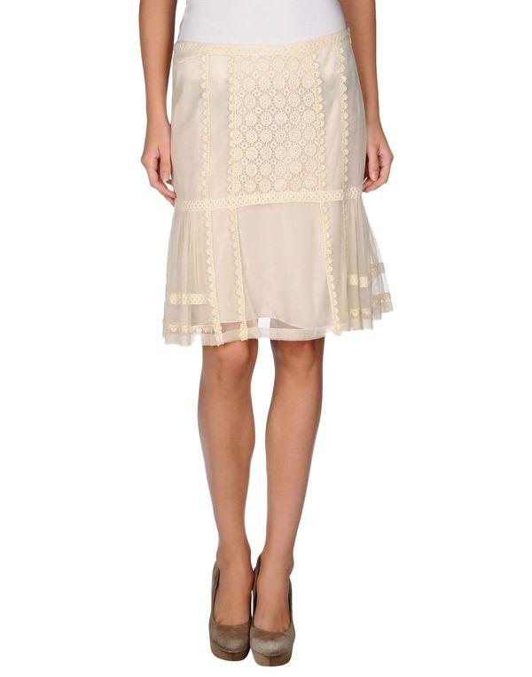 象牙白 BLUGIRL BLUMARINE 及膝半裙
