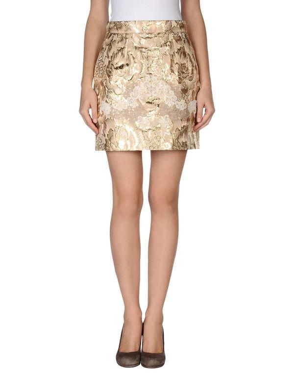 金色 DOLCE & GABBANA 超短裙