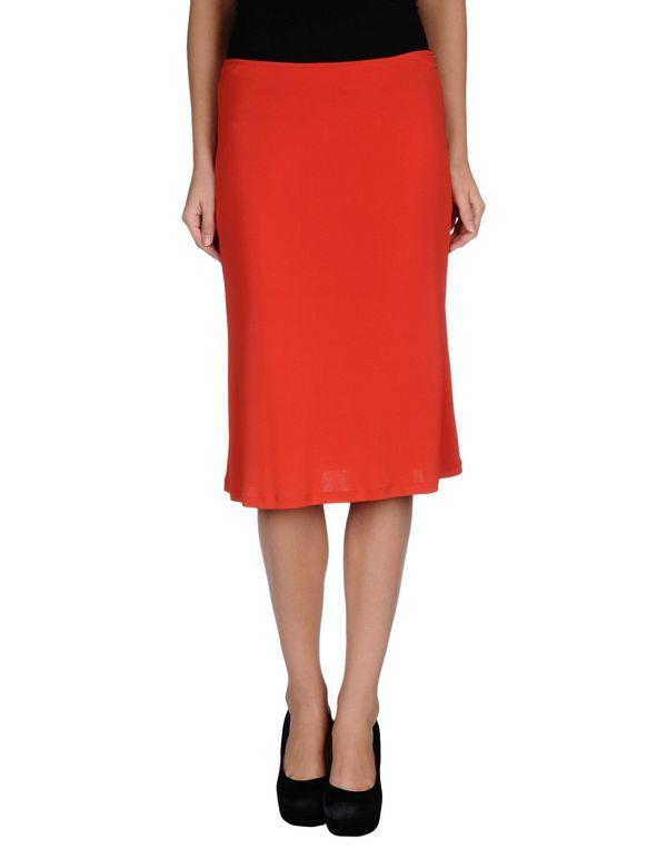 红色 CLASS ROBERTO CAVALLI 及膝半裙