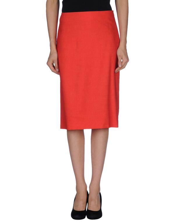红色 JIL SANDER 及膝半裙