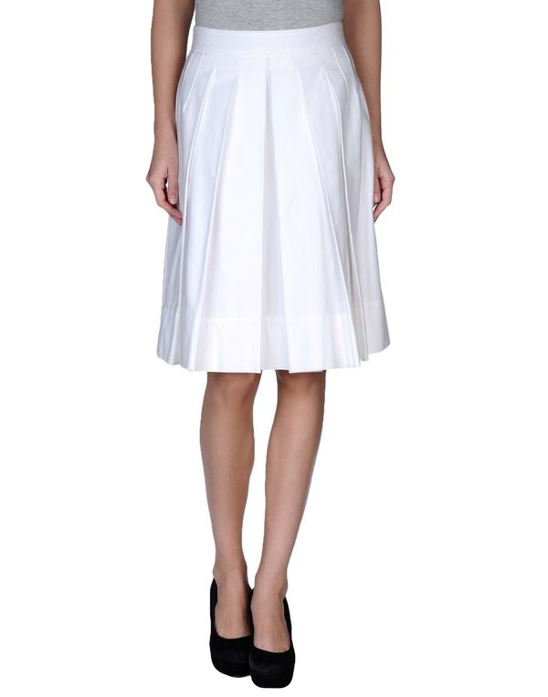 白色 DOLCE & GABBANA 及膝半裙