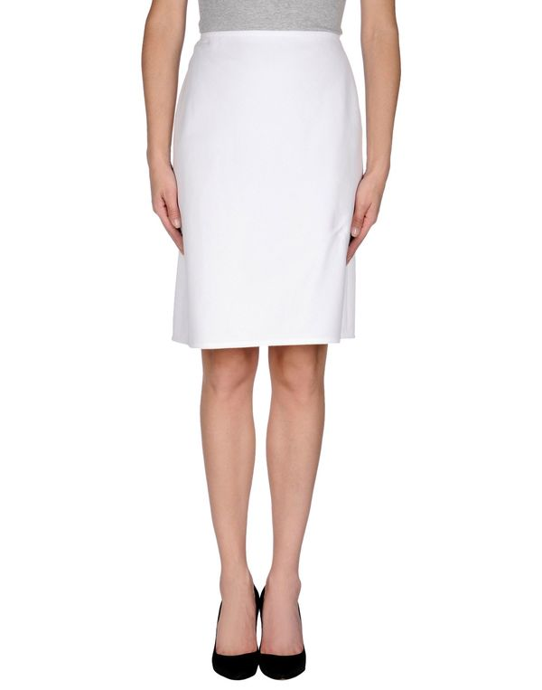 白色 VALENTINO 及膝半裙