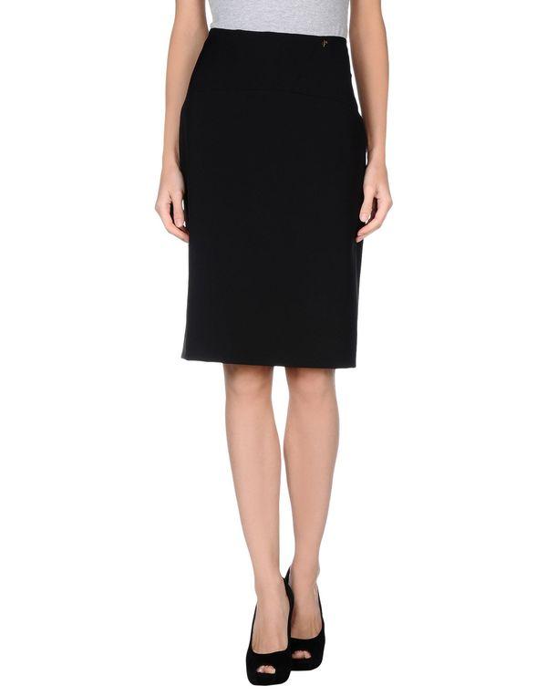 黑色 VERSACE COLLECTION 及膝半裙
