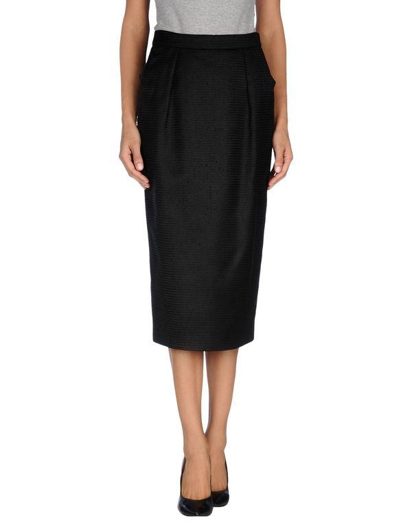 黑色 YVES SAINT LAURENT 半长裙