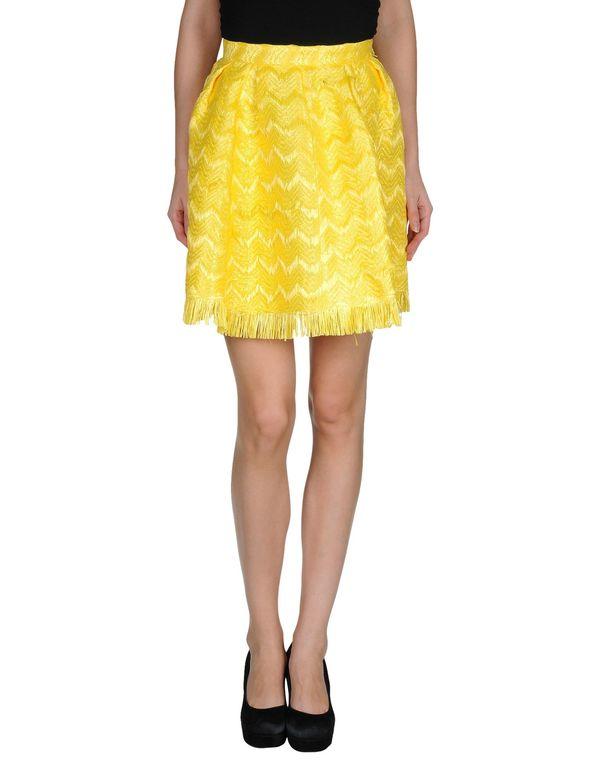 黄色 MSGM 及膝半裙