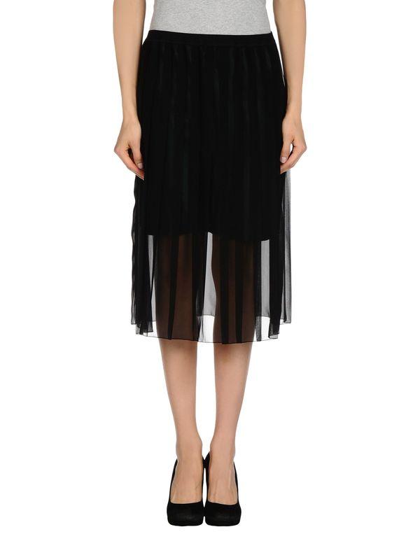 黑色 KOLOR 及膝半裙