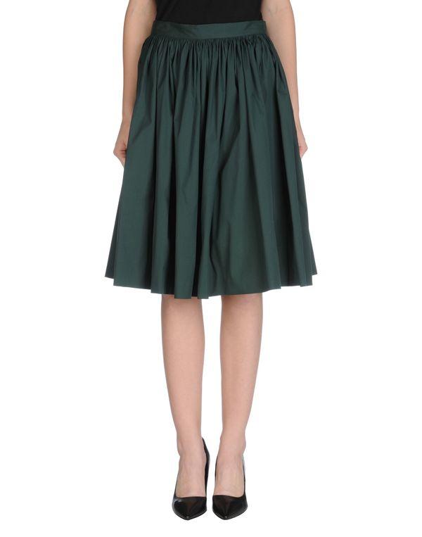 深绿色 PRADA 及膝半裙