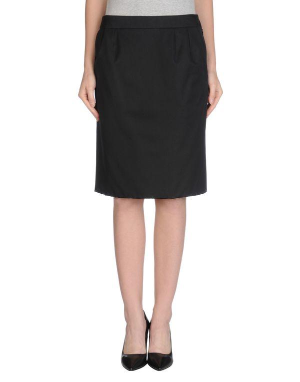 黑色 YVES SAINT LAURENT 及膝半裙