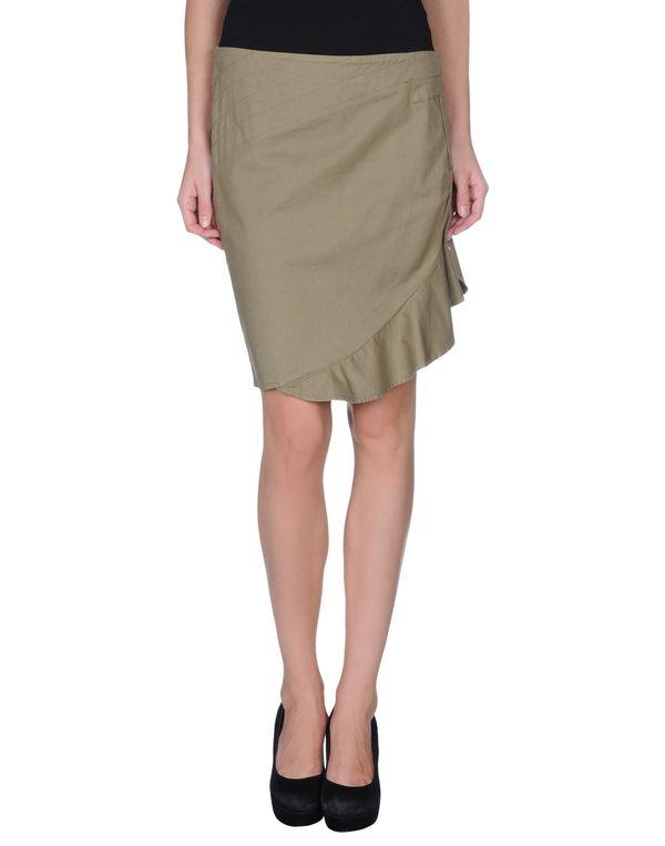 军绿色 ARMANI JEANS 超短裙