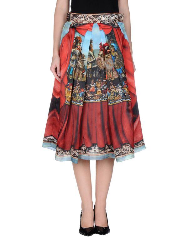红色 DOLCE & GABBANA 半长裙