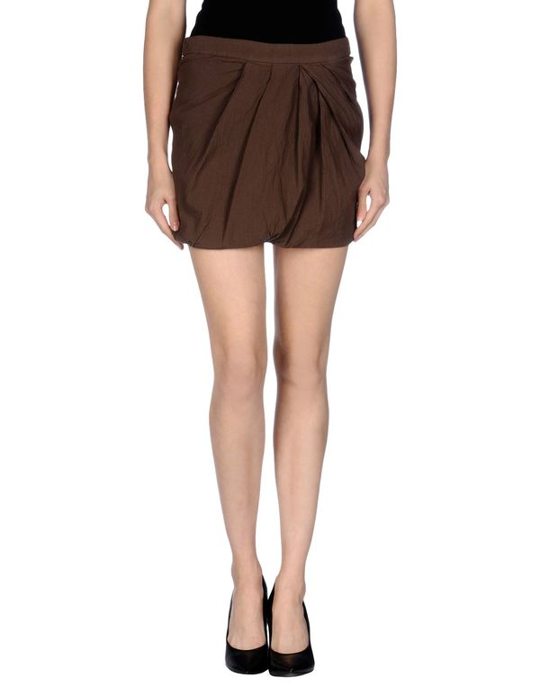 深棕色 GOLD CASE SOGNO 超短裙