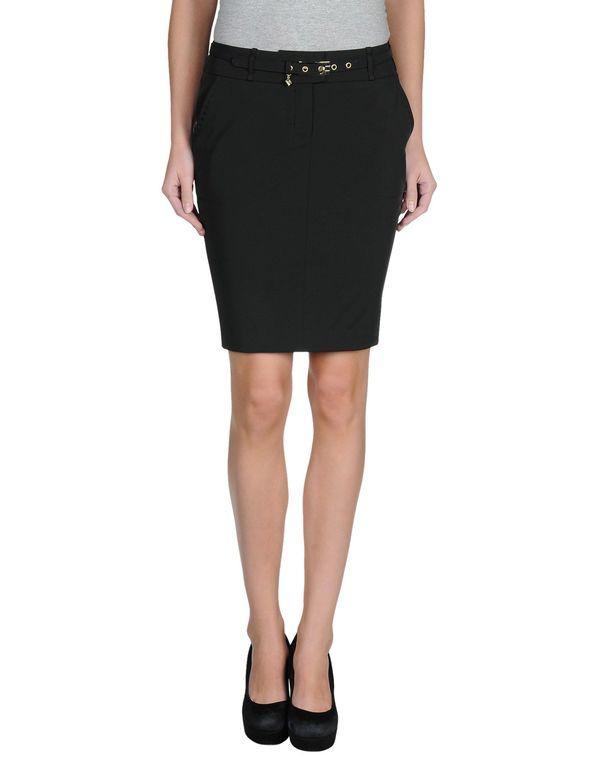 黑色 ELISABETTA FRANCHI 24 ORE 及膝半裙