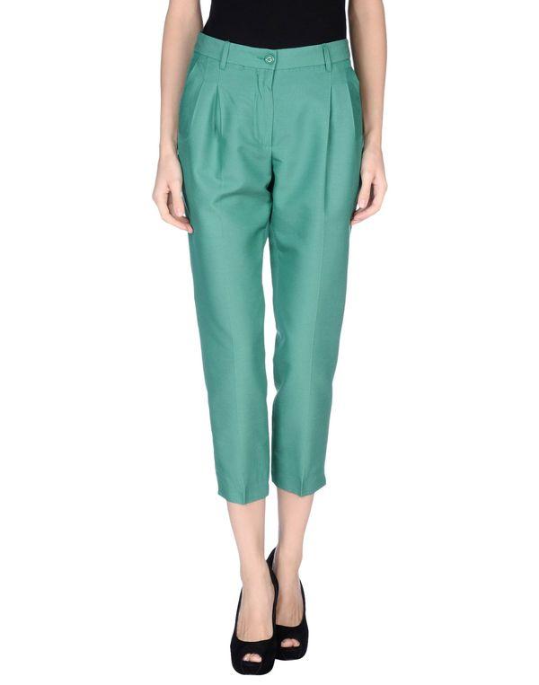 绿色 MOSCHINO 裤装