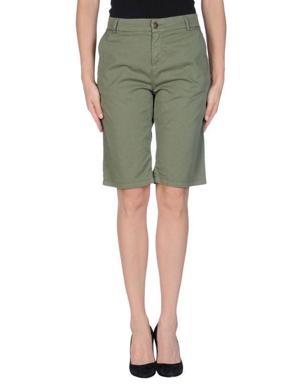 军绿色 TWIN-SET JEANS 百慕达短裤