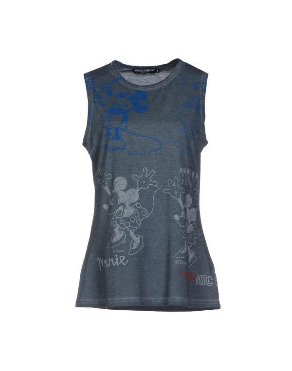 石青色 DOLCE & GABBANA T-shirt
