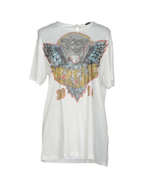 白色 VERSACE T-shirt
