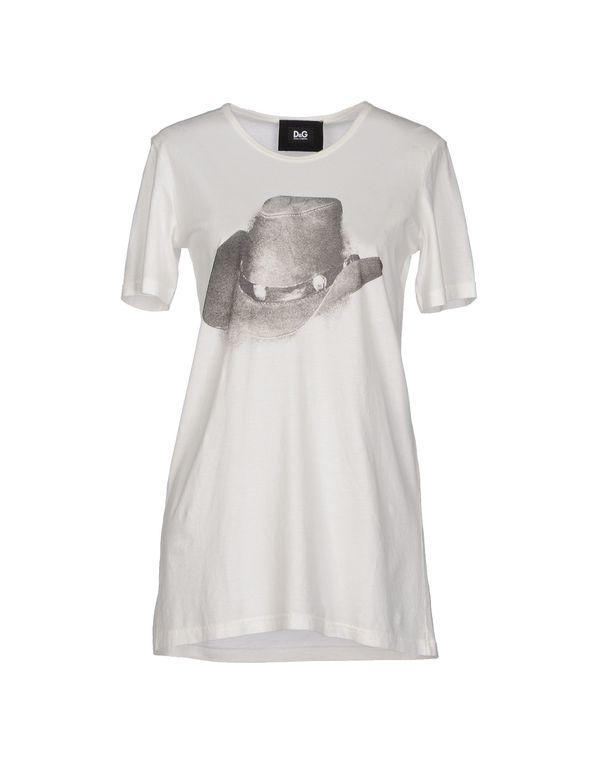 白色 D&G T-shirt