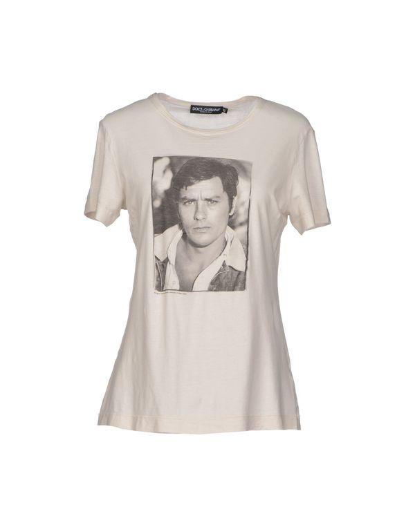 淡灰色 DOLCE & GABBANA T-shirt