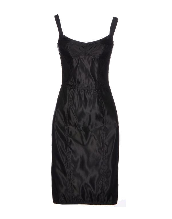 黑色 DOLCE & GABBANA 及膝连衣裙