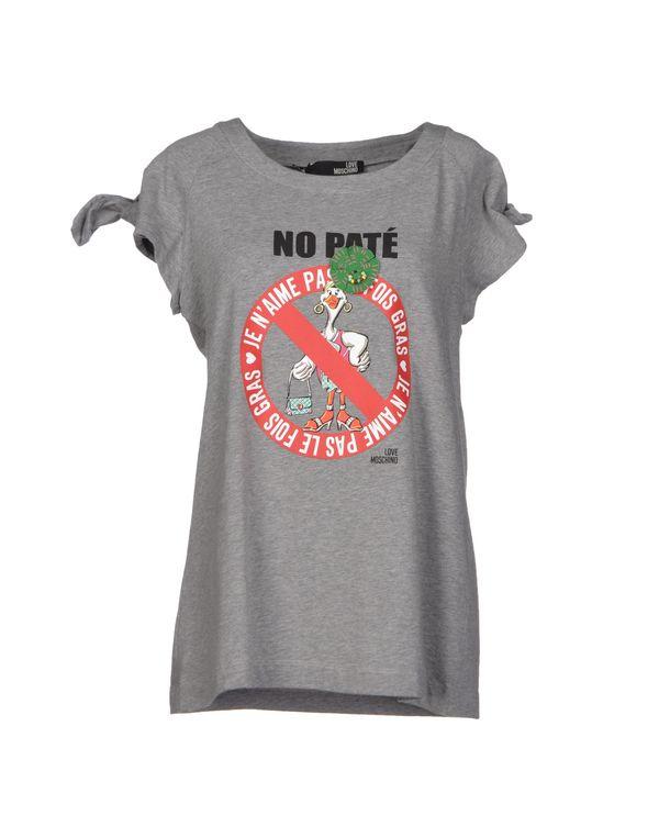灰色 LOVE MOSCHINO T-shirt