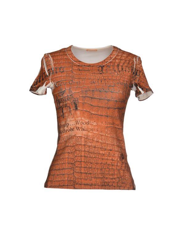 棕色 GALLIANO T-shirt