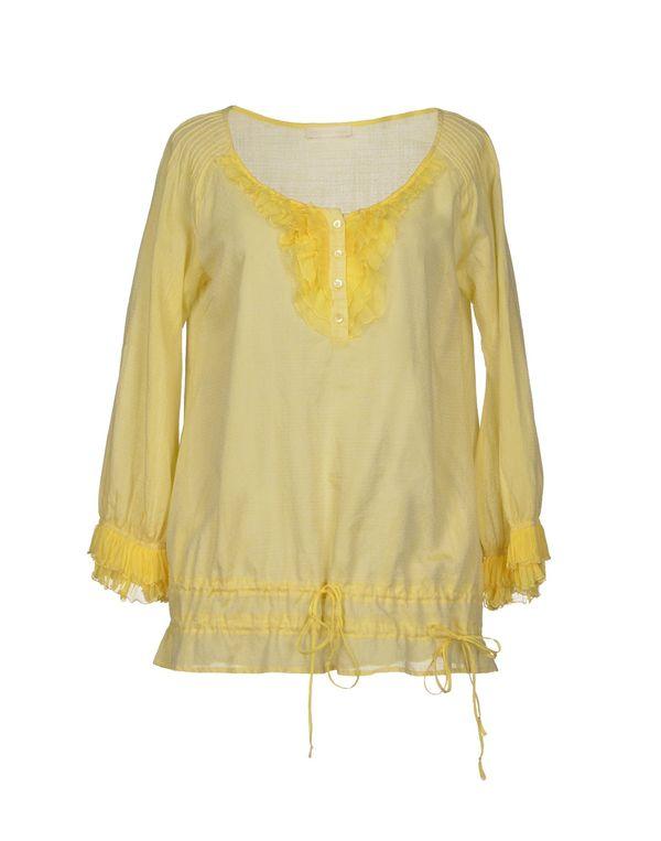 黄色 SCERVINO STREET 女士衬衫