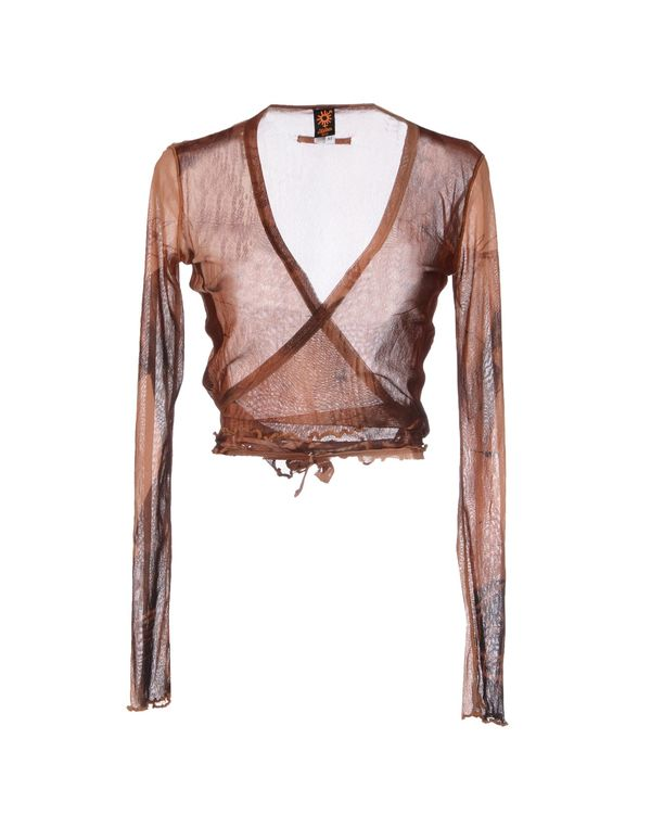 棕色 JEAN PAUL GAULTIER SOLEIL 短套衫