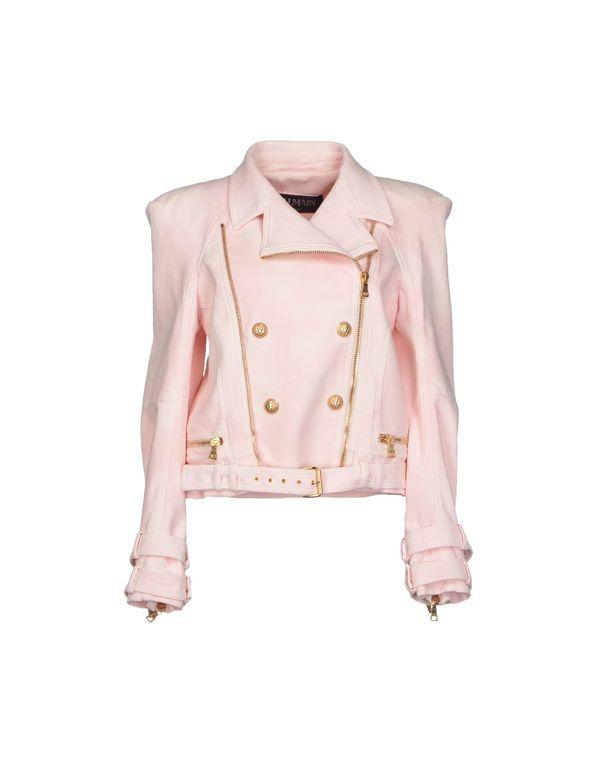 粉红色 BALMAIN 牛仔外套